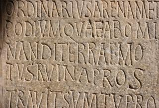 Scriptio Continua - römische Inschrift